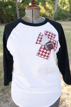 Alabama Football Love Raglan T-Shirt with by CreationsbyMelShop