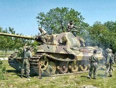 """bmashine: """"The crew of the Tiger II camouflages your tank for the upcoming battles. Tiger Ii, Bengal Tiger, World Of Tanks, Military Photos, Military History, Military Armor, Tiger Tank, Tank Destroyer, Armored Fighting Vehicle"""