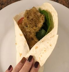 Homemade Chicken Nugget Wraps - And My Vegan Version I have been making chicken nuggets for my girls for a while now, I like t. Homemade Chicken Nuggets, Wraps, Vegan, Ethnic Recipes, Life, Food, Essen, Meals, Vegans