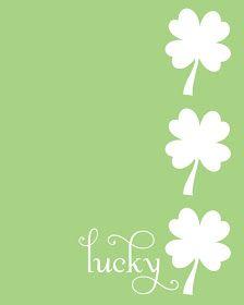 St. Patrick's Day Lucky Shamrock {Free Printable} #St.Patrick'sDay  #Shamrock #FreePrintable