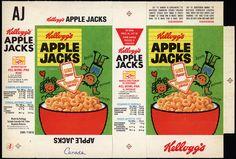 Canada - Kellogg's - Apple Jacks - single serve cereal box - unused file flat - 1978 by JasonLiebig, via Flickr