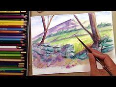 Cómo Pintar Rocas con Lápices Acuarelables: Técnica Acuarela - YouTube