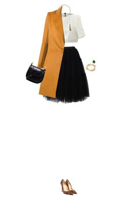 """""""How to Style a Black Tulle Skirt"""" by outfitsfortravel ❤ liked on Polyvore featuring Chicwish, Maticevski, Yves Saint Laurent, Bouchra Jarrar, Christian Louboutin, Tiffany & Co. and Chloé"""