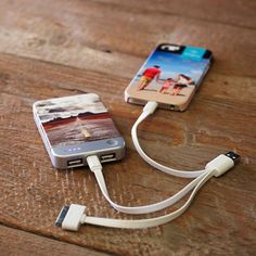 Shutterfly now offers personalized portable chargers. Give one as a gift this holiday season. | Shutterfly