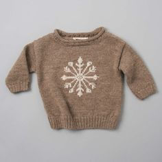 Luxurious Organic Infant and Baby Clothing: pullover : Snowflake Sweater