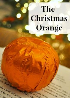 Such a great message to share at Christmas...and my oranges are ...
