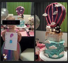 Art Inspired Hot Air Balloon Cake... Coolest Birthday Cake Ideas