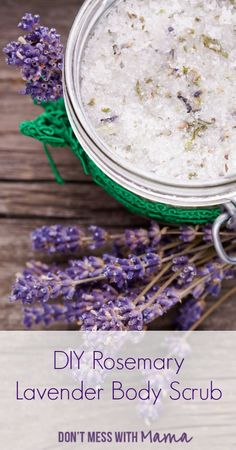 Make your own luxurious home spa with this DIY Lavender Body Scrub. It can be used as a body scrub or to soften hands.