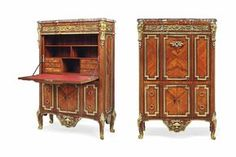 A FRENCH OLMOLU-MOUNTED KINGWOOD, AMARANTH AND FRUITWOOD SECRETAIRE A ABATTANT OF LOUIS XVI STYLE, LAST QUARTER 19TH CENTURY