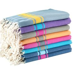 large hamam towel with stripes by febronie | notonthehighstreet.com