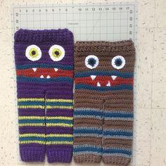 Meme's Monster Pants - Kids - Crochet- Multiple Sizes - Monster Bum Pants - Super Soft Yarns -Kids Clothing - Open Airy Stitching