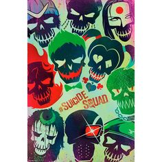 Faces - Poster by Suicide Squad