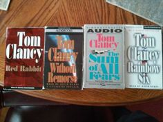 Tom-Clancy-Audio-Books-Lot-of-4-Complete-Boxed-Sets