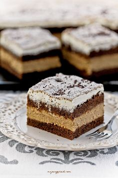 Kostka Cappuccino Cake Recipes, Dessert Recipes, Coffee Dessert, Food Cakes, Cake Cookies, Baked Goods, Tiramisu, Sweet Tooth, Cheesecake