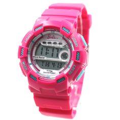 DW332B Magenta Uhrgehäuse Alarm Hintergrundbeleuchtung Wasser Resist-Dame-Frauen-Digitaluhr