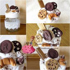 Barattolo Nutella abbellito con dolcetti in fimo e panna.. © www.coccinellecreative.blogspot.com © www.coccinellecreative.com