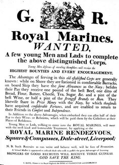 Another example of a Royal Marine recruitment poster, this one from Leicestershire