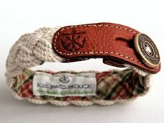 leather / cord nautical bracelet