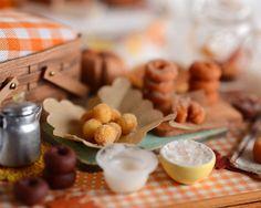 Miniature Fall Baking Doughnuts by CuteinMiniature on Etsy