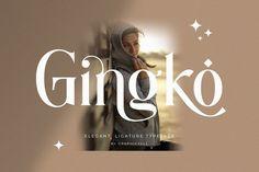 Gingko Ligature Typeface#modern #letter #typeface