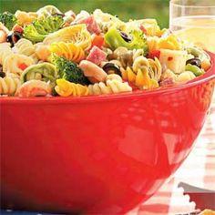 Picnic Pasta Salad Recipe @keyingredient #cheese #italian