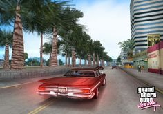 The classic game Grand Theft Auto Vice City is 10 years old. For this anniversary occasion, the developers will release the game later this year for the Android platform. On 6 December Android players run through a virtual city: Vice City. Gta Vice City Stories, Grand Theft Auto Series, Palm Tree Art, South Beach Hotels, Kings Game, Miami Vice, San Andreas, Run Around, Freedom Of Movement