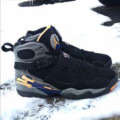 buy popular 77e9a 6882f Jordan Shoes   Retro Jordan 8s   Color  Black   Size  7.5