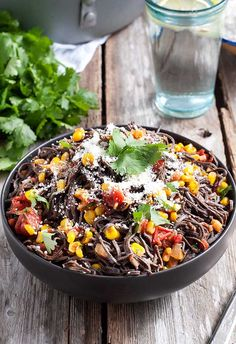 I'm a huge fan of Mexican flavors and I see no reason not to use them in different ways. Like in pasta for instance.  This Tex-Mex pasta was inspired by