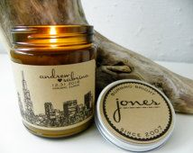 City Skyline Wedding Gift Personalized Candle Custom Candle Wedding Present Bride to Be Gift Soy Candle Bride to Groom Gift Holiday Gift