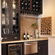 Check Out 35 Best Home Bar Design Ideas. Home bar designs offer great pleasure and a stylish way to entertain at home. Home bar designs add values to homes and beautify the game room and basement living spaces. Home Wine Bar, Wet Bar Designs, Bar Designs For Home, Wet Bars, Butler Pantry, Basement Remodeling, Basement Ideas, Remodeling Ideas, Wet Bar Basement