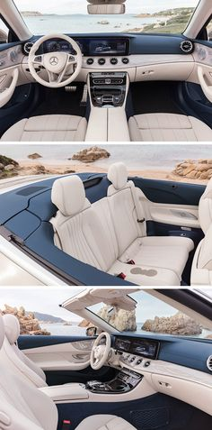 The interior of the Mercedes-Benz E-Class underlines the dynamism of the Cabriolet.