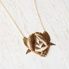 Fish Necklace by kellyssima on Etsy