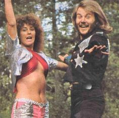Anni-Frid Lyngstad and Benny Andersson of ABBA.