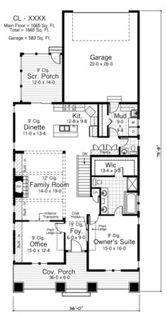 This A-frame Bungalow features an open floorplan with a 2 car garage and front a. - House Plans, Home Plan Designs, Floor Plans and Blueprints A Frame House Plans, House Plans And More, Best House Plans, Small House Plans, House Floor Plans, Bungalow Homes, Bungalow House Plans, Ranch House Plans, Cottage Homes