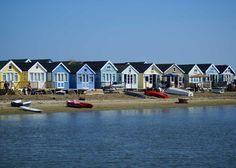 Beach Huts on Mudeford Sandbank.