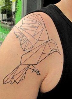 #geometric #bird #tattoo