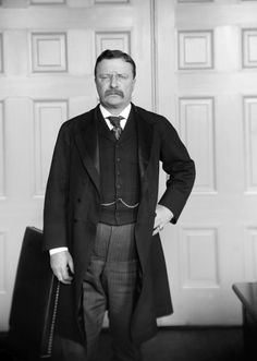 President Theodore Roosevelt and his deadly serious moustache