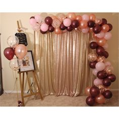 Wedding Planning Party Rose Gold Trendy Ideas - Sites new Rose Gold Balloons, Wedding Balloons, Birthday Balloons, 21st Birthday Decorations, Wedding Decorations, 50th Birthday Ideas For Mom, Garland Wedding, Burgundy Baby Shower, Party Planning