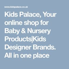 Baby And Nursery Products Kids Designer Clothes