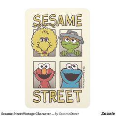 Sesame StreetVintage Character Comic Rectangular Photo Magnet