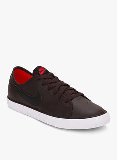 Nike Primo Court Leather Brown Sneakers On LooksGud.in  #Nike, #Brown, #Solid