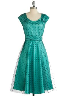 Not sure if I'm wild about the color, but I sure do love the Dress! :) It's very I love Lucy.