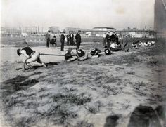 Tug of War event at the 1904 Olympics: St. Louis Turners #1 vs. St. Louis Turners #2.