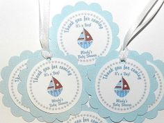 Sail Boat Baby Shower -Baby Shower Favor Tag- Sail Boat Baby Shower Party Baby Shower Candy, Shower Baby, Baby Shower Favors, Baby Shower Parties, Baby Shower Themes, Shower Ideas, Nautical Baby, Favor Tags, Gift Bags