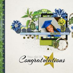 child graduation digital layout by Camille