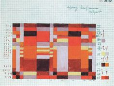 Gunta Stölzl, Design for a double-weave wall hanging, Bauhaus Dessau, ca. 1927