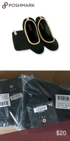 Women's SideKicks shoes New. Mesh foldable ballerina flats. Stretchy easy slip-on flats. Foldable shoes come with carrying pouch. Breathable, natural firm fit. Form-fitting construction and ergonomic comfort. Fold and go for easy transport. Shoes