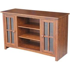 International Concepts Espresso Entertainment/TV Stand for TVs up to 52 inch, Brown