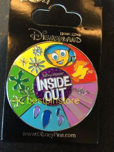 Disney pin - HKDL Inside Out Spinner Pin - Joy, Sadness, Anger, Disgust, Fear