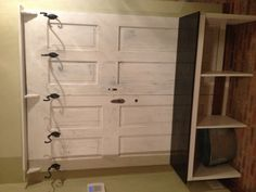 My husband and I used a pair of vintage doors to make a bench/coat rack in our entry from the garage.